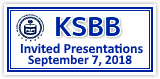 KSBB Invited Presentations  September 7, 2018