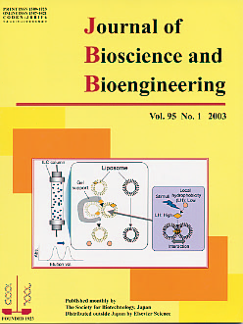 Journal of Bioscience and Bioengineering Vol. 95 (2003) Cover