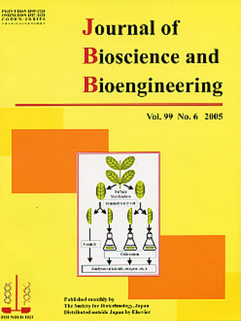 Journal of Bioscience and Bioengineering Vol. 99, No. 6 (June 2005) Cover